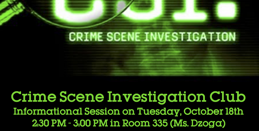 CSI Club Information Session on Tuesday 10/18