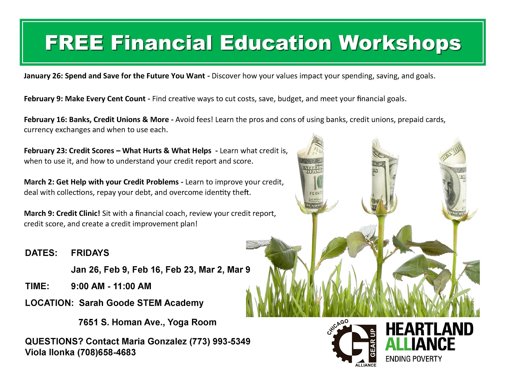 FREE Financial Education Workshops