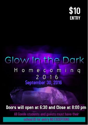 2016 Glow in the Dark Homecoming