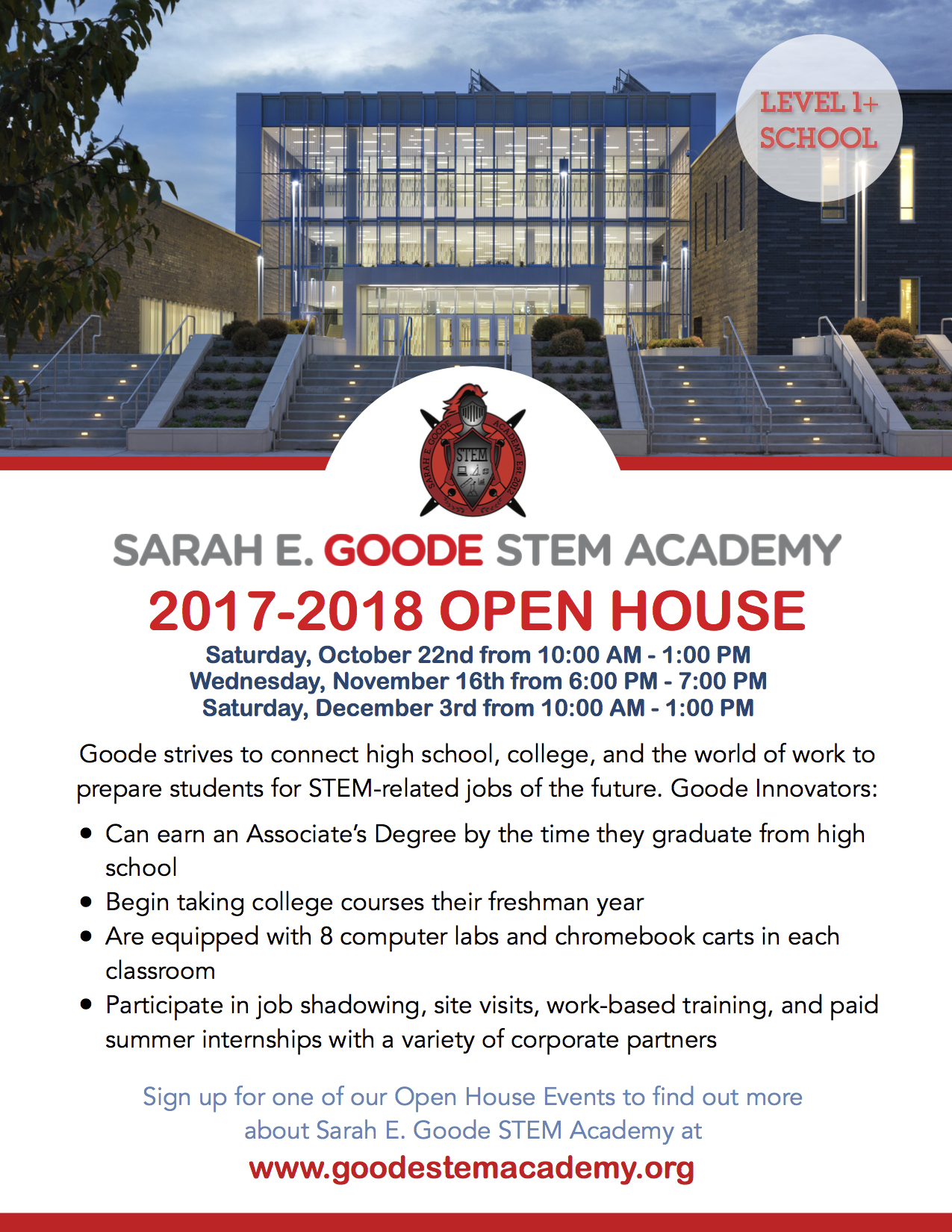 Goode Open House on Saturday, October 22nd