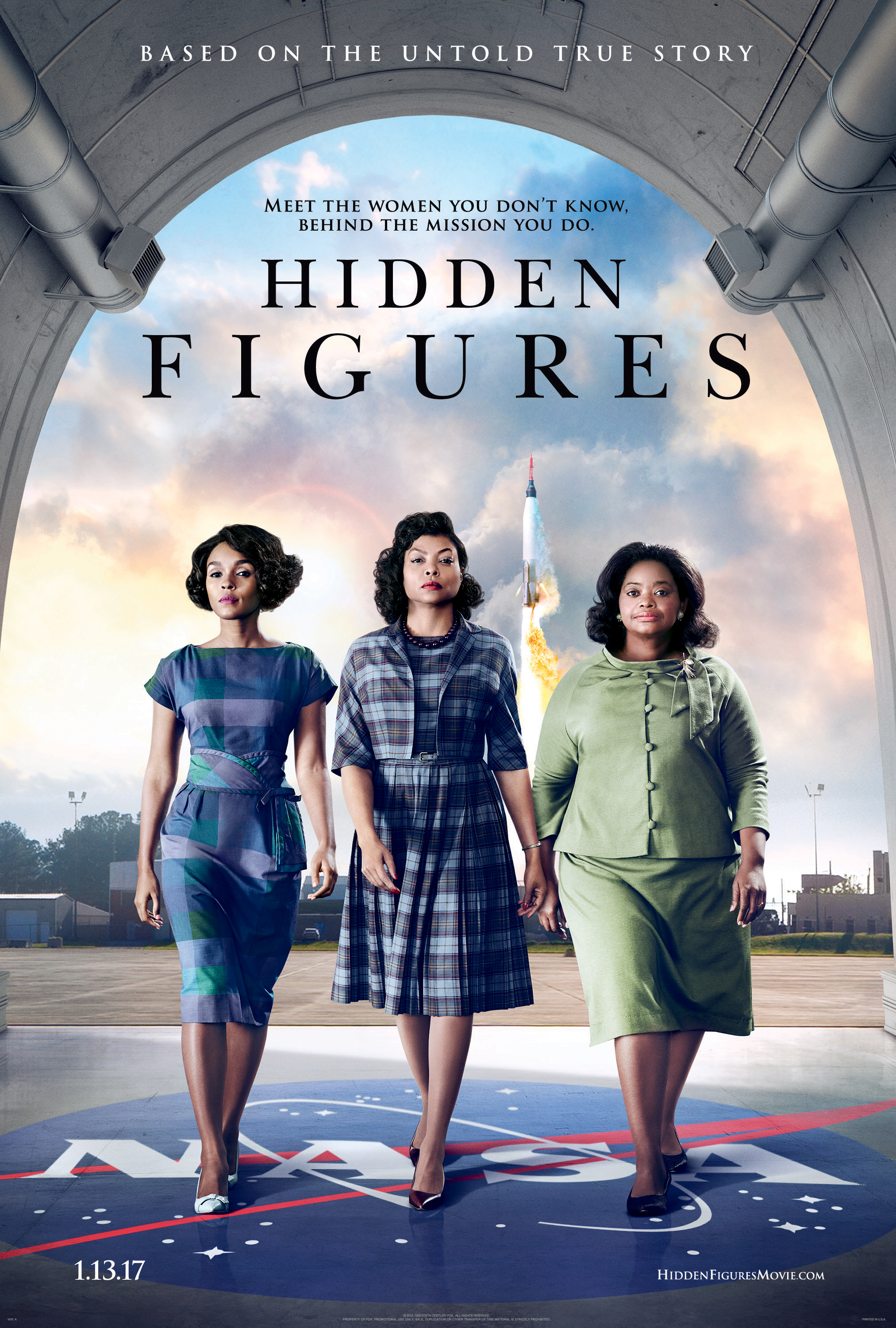 Free Hidden Figures Movie Tickets Monday January 16th